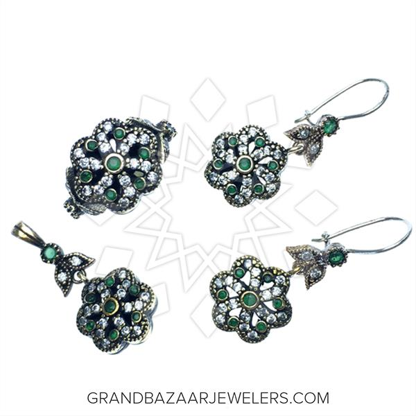 Ottoman Floral Design Jewelry Sets