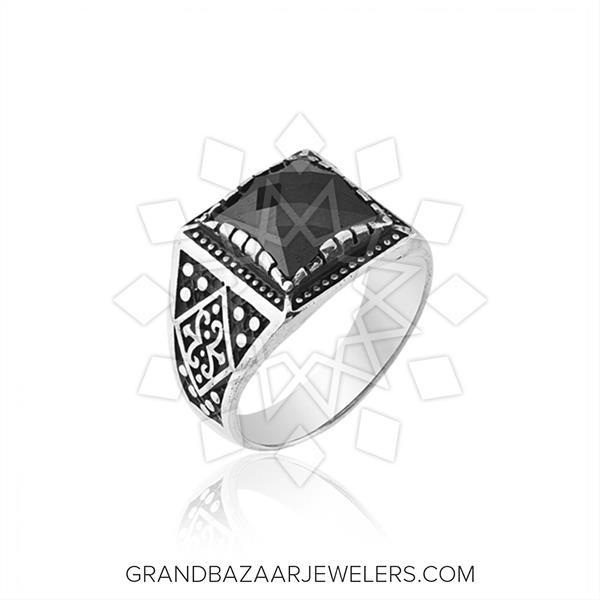 Pasha Mens 925 Silver Ethnic Design