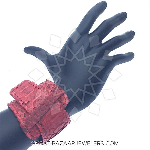 Python Leather and Crystal Bracelets