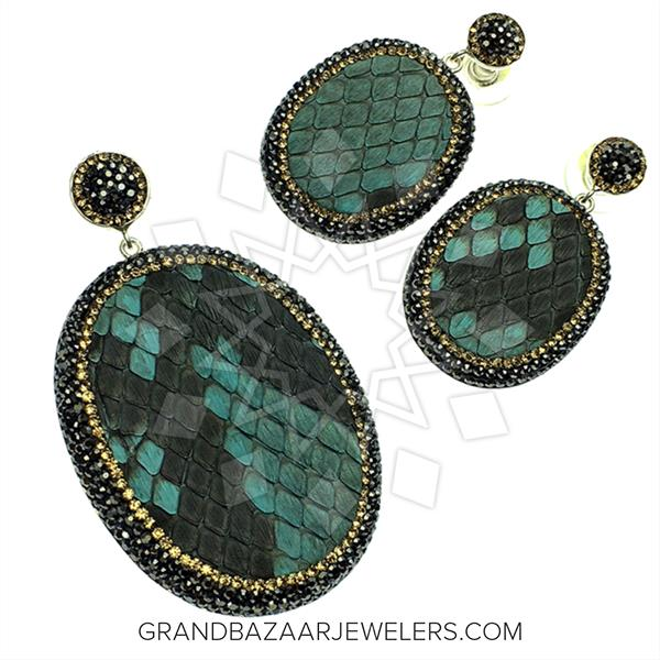 Python Leather and Crystal Sets