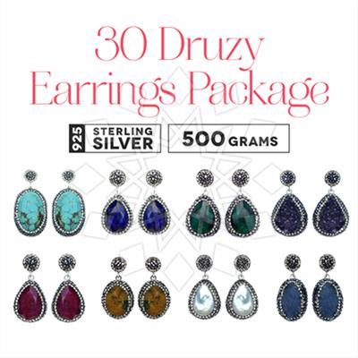 Single Drop Gem and Crystal Earrings 30 Package