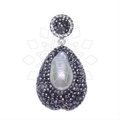 Single Drop Gem and Crystal Pendants