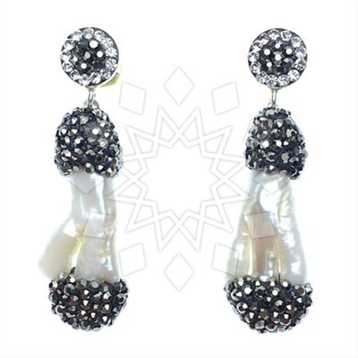 Single Drop Gem and Crystal Earrings