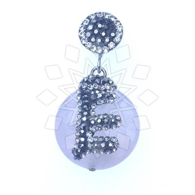 Single Drop Gem and Crystal Pendant