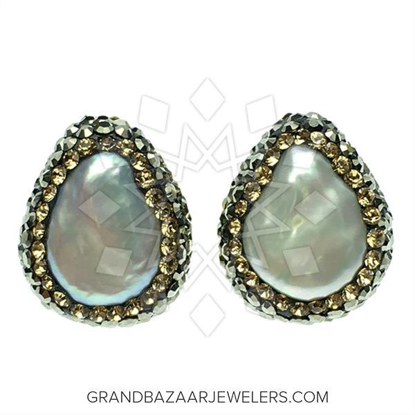 Single Gem and Crystal Stud Earrings