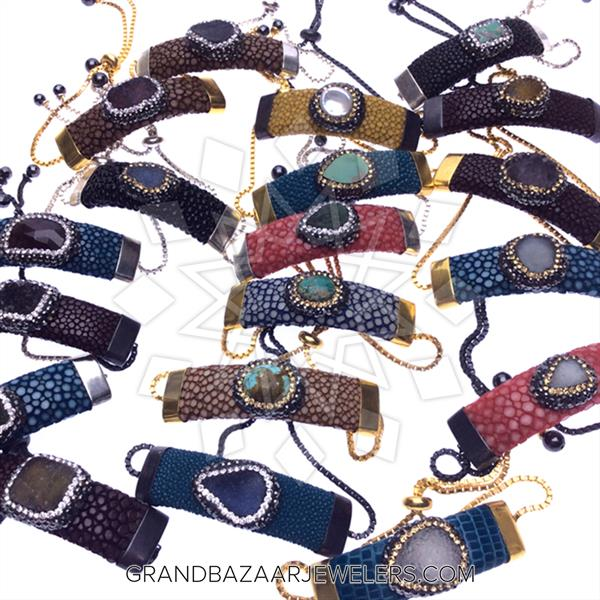 Stingray Leather and Gem 50 Mixed Bracelets