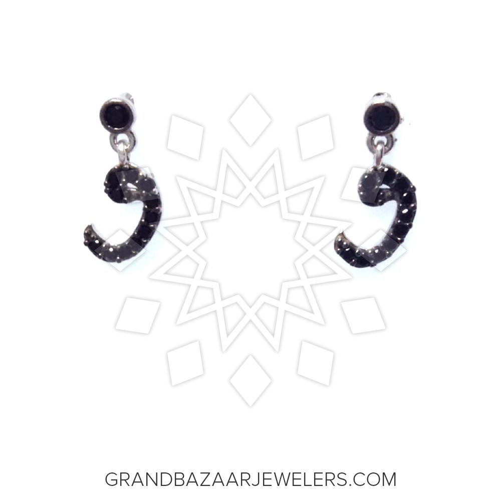 Symbols and Motifs Silver Earrings