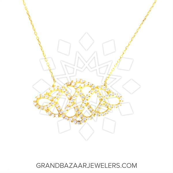 Symbols and Motifs Silver Necklace
