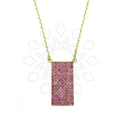 925 Silver Geometric Design Necklace
