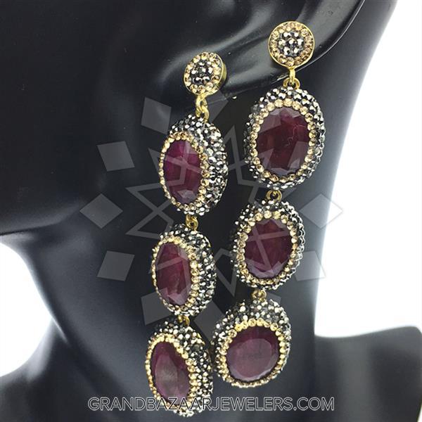 Triple Drop Gemstone Natural Gemstones