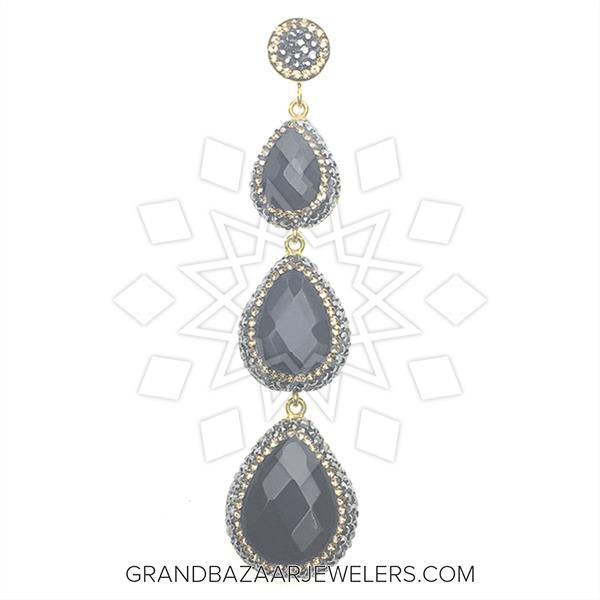 Triple Drop Gemstone Pendant