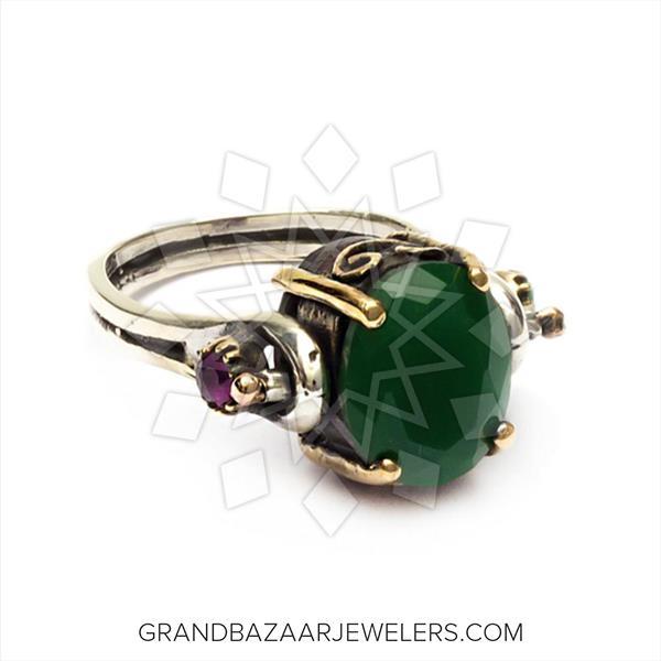 Vintage Antique Turkish Silver Reverso Ring