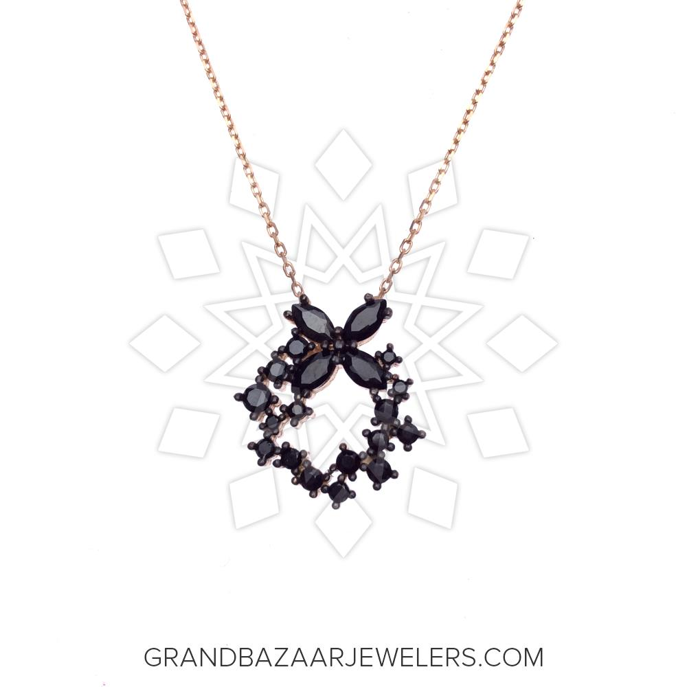 1a5212bd15240b Customize & Buy Classic 925 Sterling Silver Necklace - GBJ1NC4068-1 Black  Cubic Zirconia Online at Grand Bazaar Jewelers