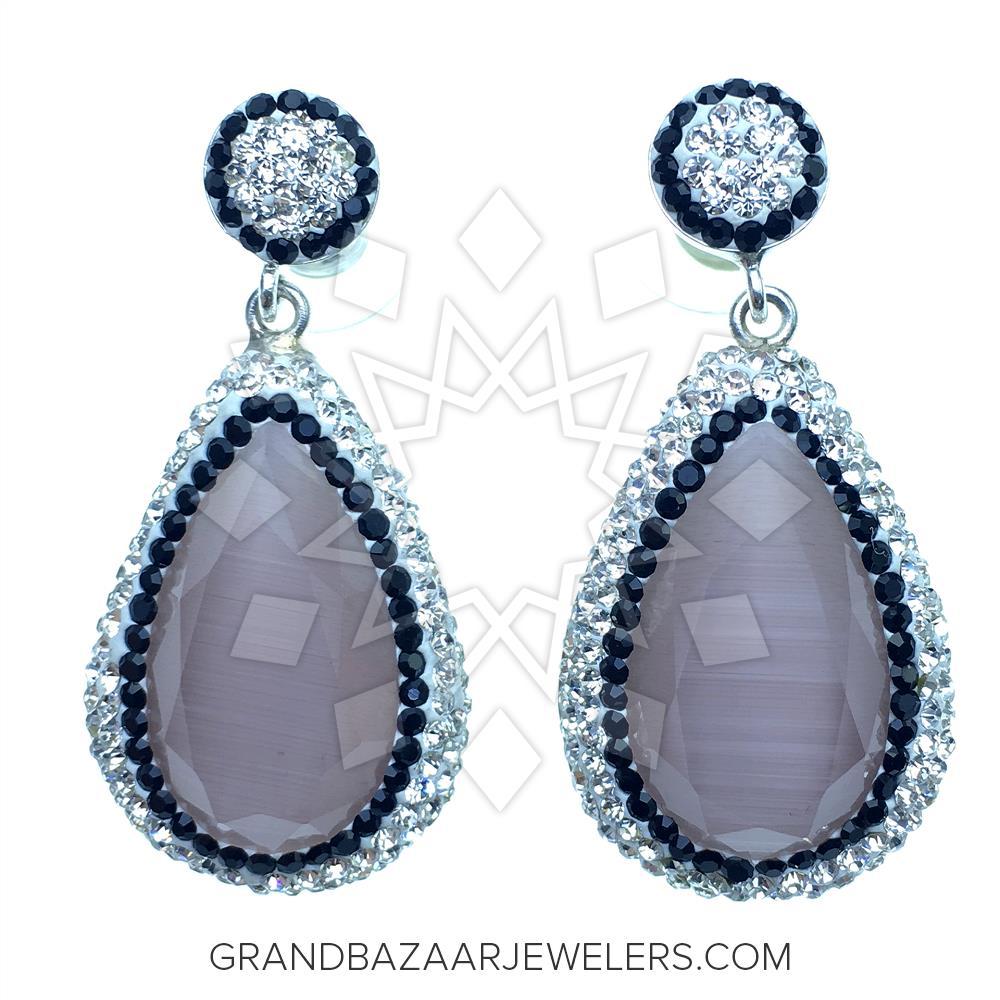 Customize Crystal Clear Druzy Earrings Gbj1er1953 1 Quartz Online At Grand Bazaar Jewelers