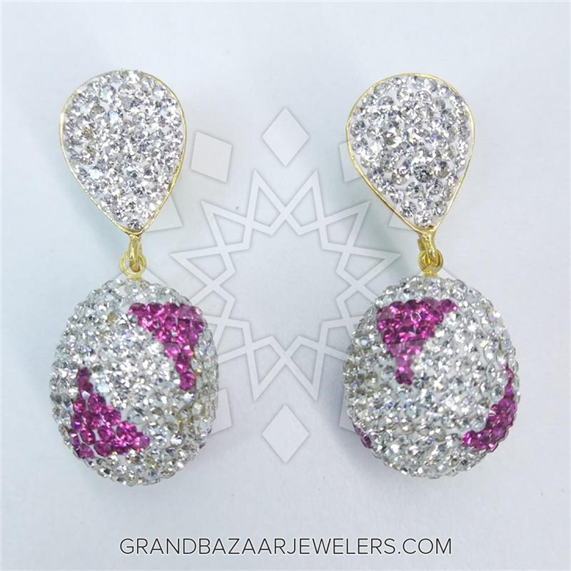 Crystal Pave Bijoux Fashion Single Drop Earrings