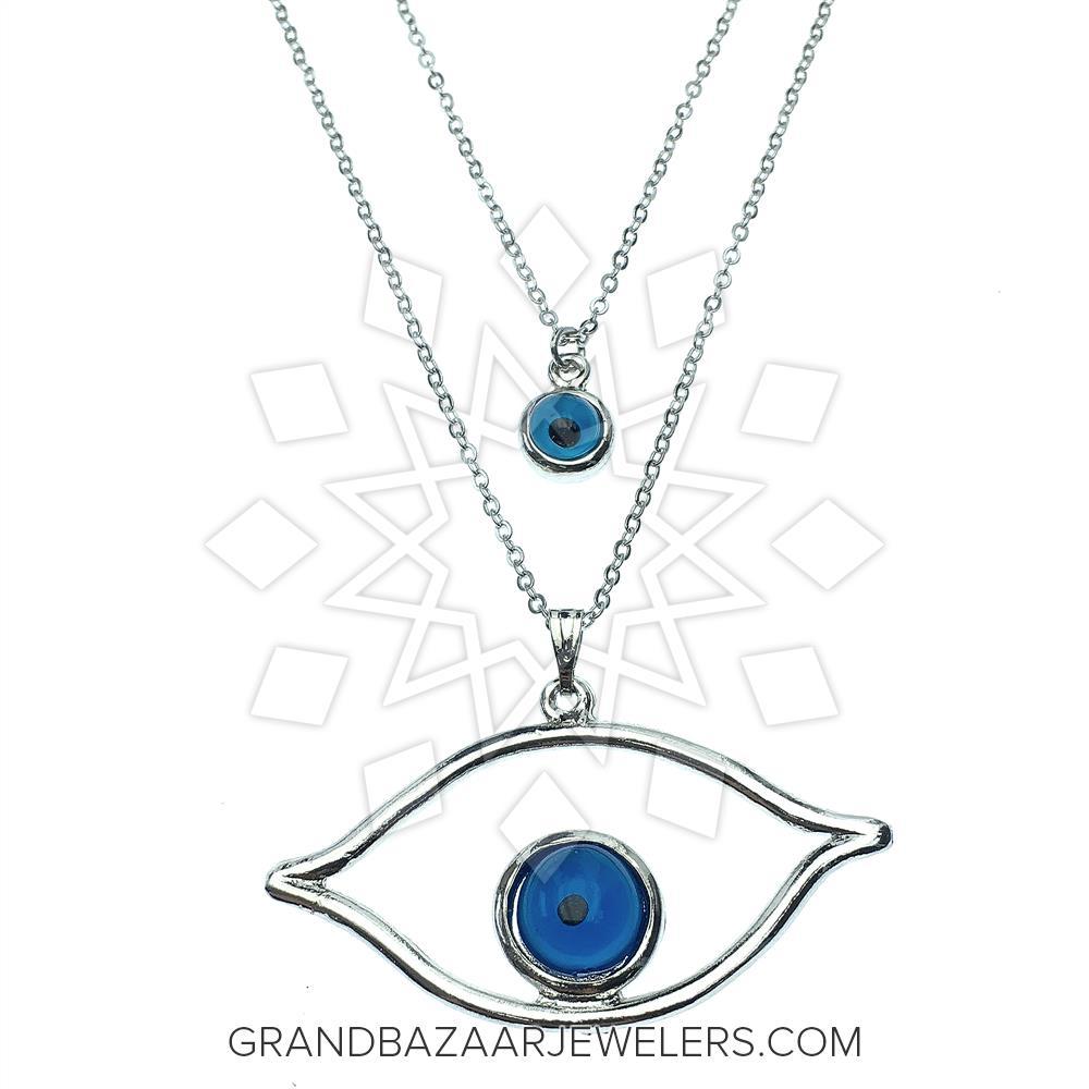 178f3f112 Customize & Buy Evil Eye Fashion Jewelry Bijou Necklace- Online at Grand  Bazaar Jewelers - GBJ3NC6186-1