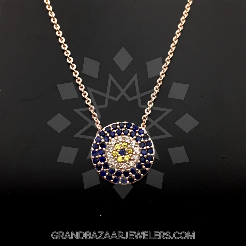 299c44d50 Customize & Buy Evil Eye Fashion Jewelry Bijou Necklace- Online at Grand  Bazaar Jewelers - GBJ3NC6517-1