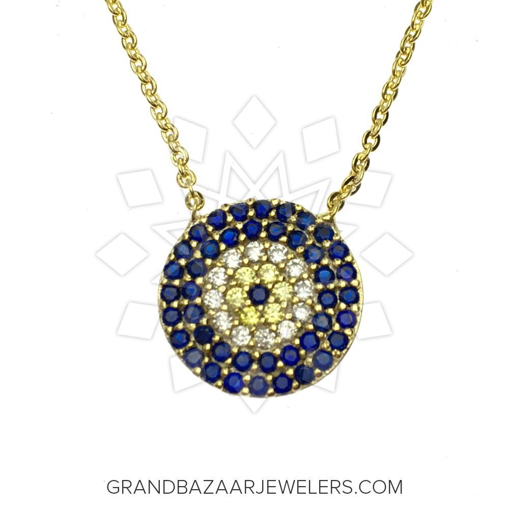 0c097c79b Customize & Buy Evil Eye Fashion Jewelry Bijou Necklace- Online at Grand  Bazaar Jewelers - GBJ3NC6518-1
