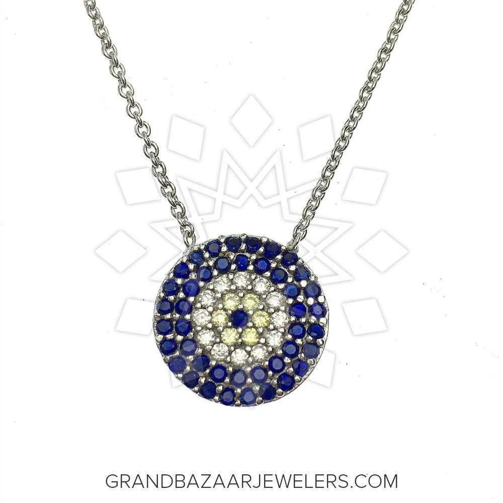 fe1de9f44 Customize & Buy Evil Eye Fashion Jewelry Bijou Necklace- Online at Grand  Bazaar Jewelers - GBJ3NC6520-1