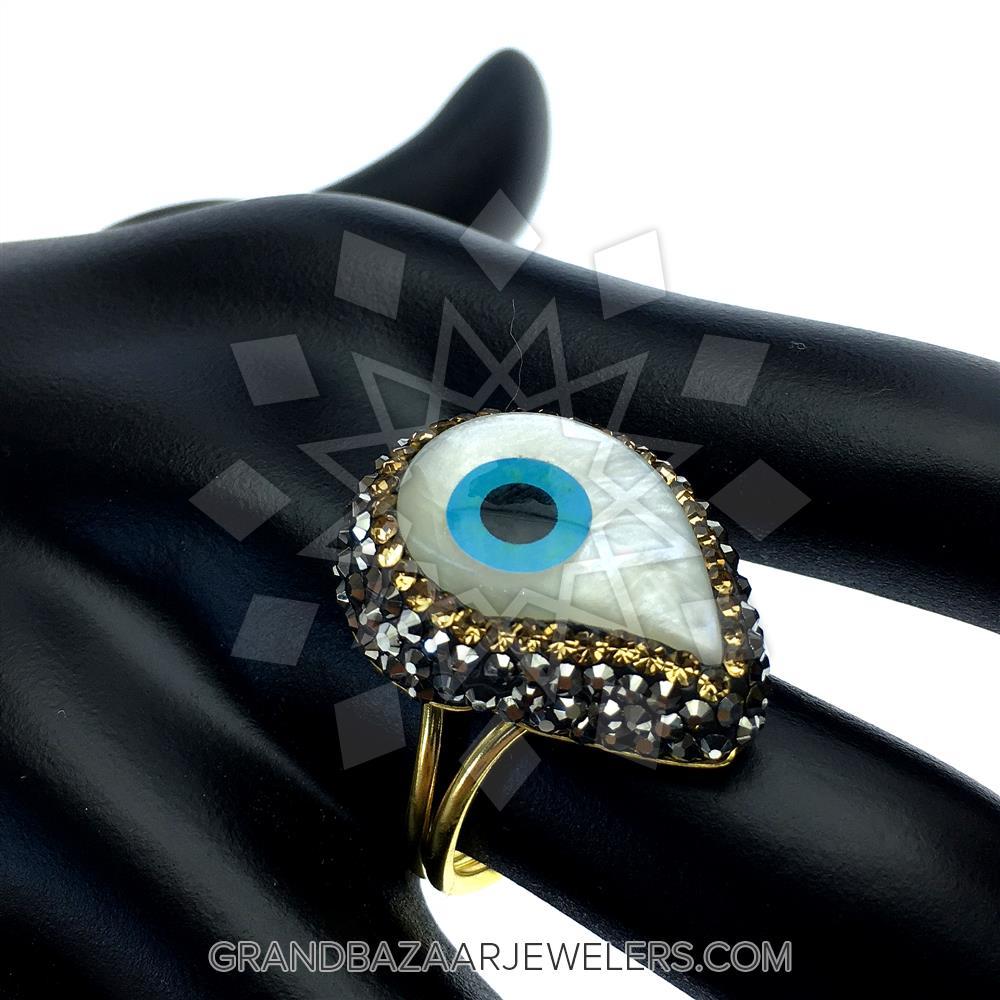 380e4ba94 Customize & Buy Evil Eye Fashion Jewelry Bijou Rings- Evil Eye Online at Grand  Bazaar Jewelers - GBJ3RG6152-1