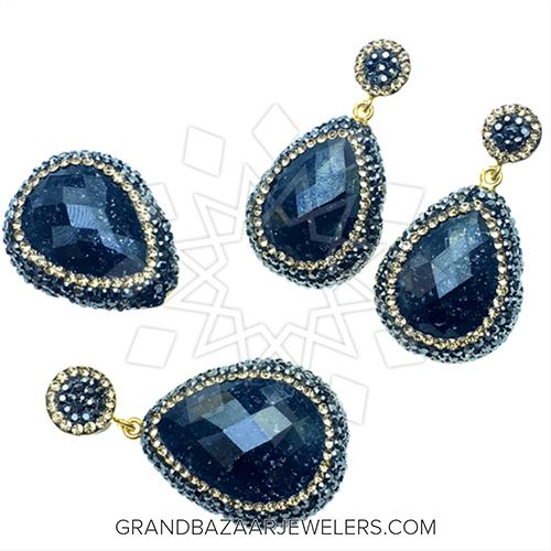 Customize Amp Buy Gem And Crystal Silver Jewelry Sets Black