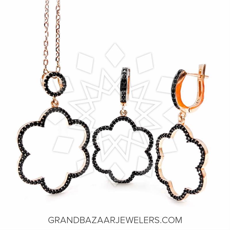 Flower Earrings Necklace Sets